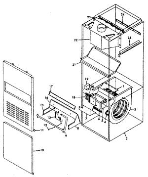KENMORE GasFired Furnace Power vent damperwiring