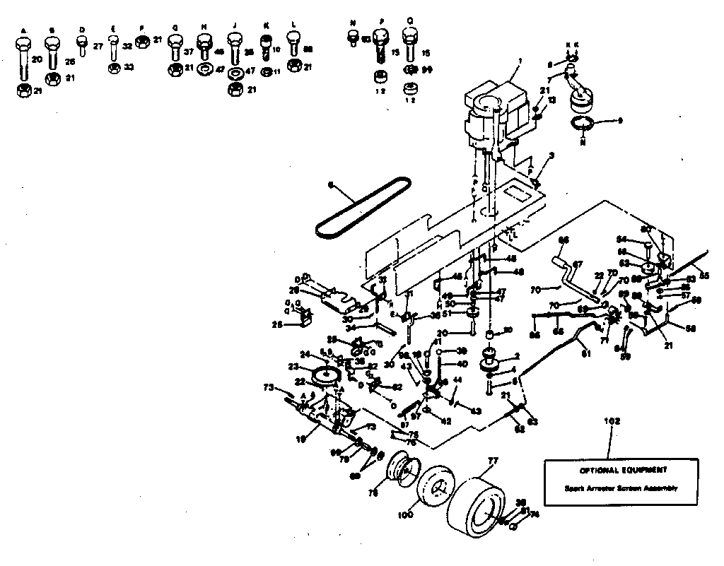 DRIVE Diagram & Parts List for Model 917254245 Craftsman