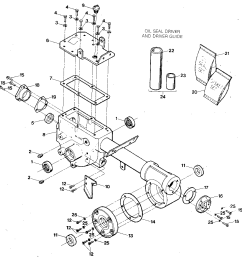 troybilt econo horse e9434 and up transmission housing covers seals gaskets  [ 992 x 1024 Pixel ]