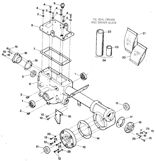 small resolution of troybilt econo horse e9434 and up transmission housing covers seals gaskets