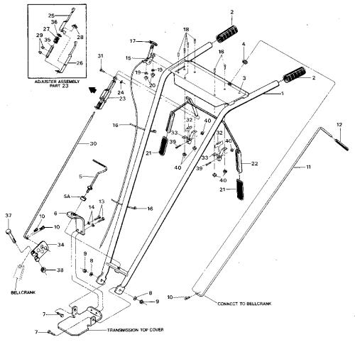 small resolution of older model troy bilt tiller parts diagram