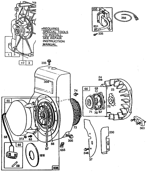 small resolution of briggs stratton 130212 3112 01 flywheel assembly diagram