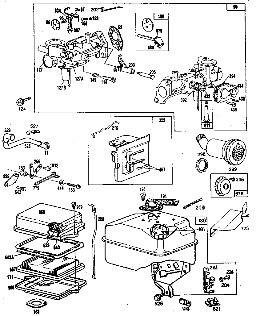 10 Hp Brigg And Stratton Carb Diagram Wiring