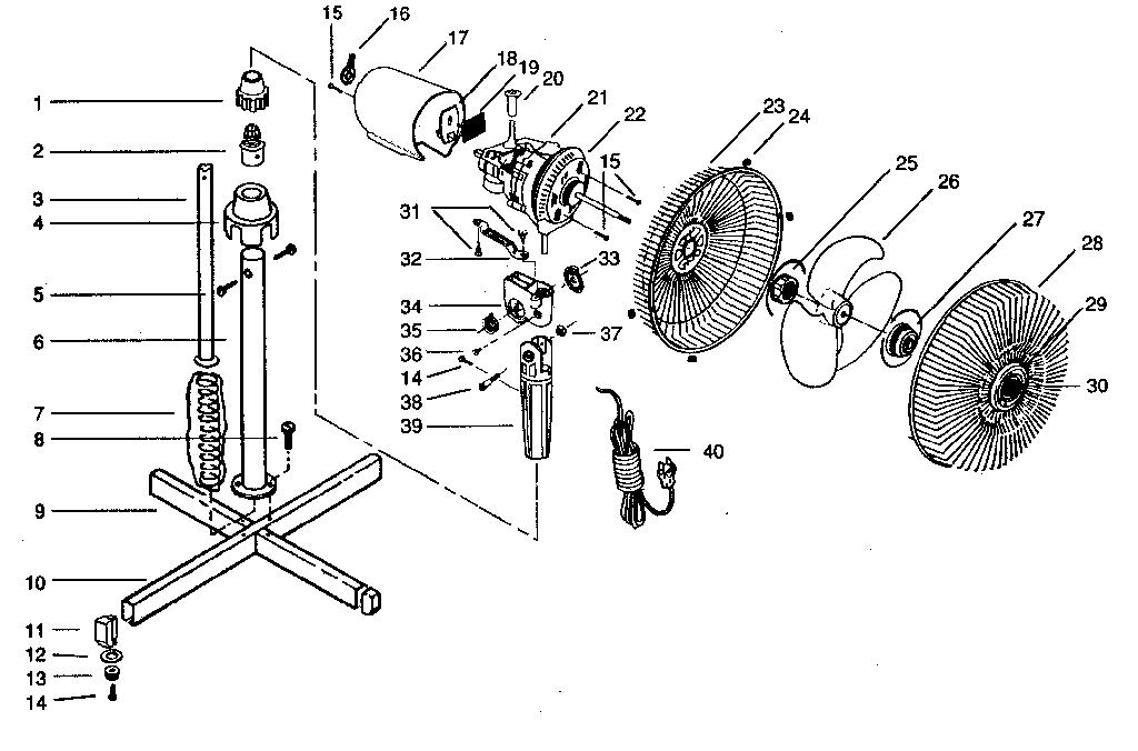 speed table fan wiring diagram industrial pedistal fan repair