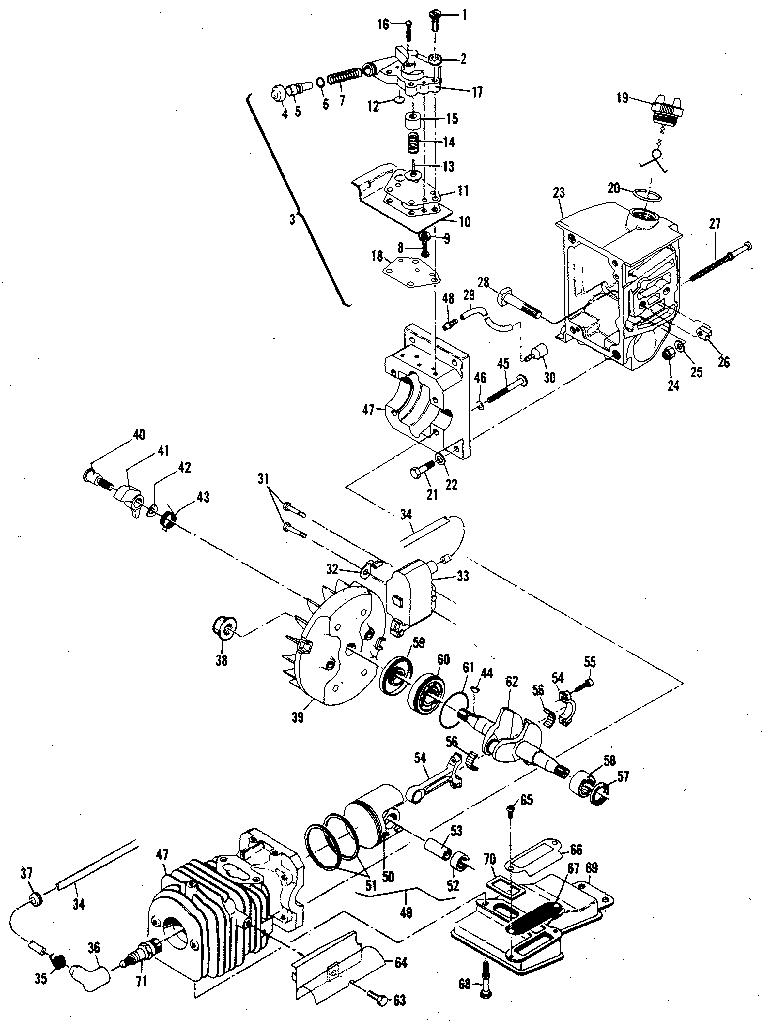 POWERHEAD & OILER ASSEMBLIES Diagram & Parts List for