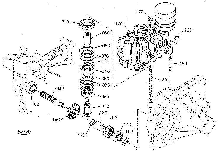 THIRD SHAFT (HST) Diagram & Parts List for Model T1400H