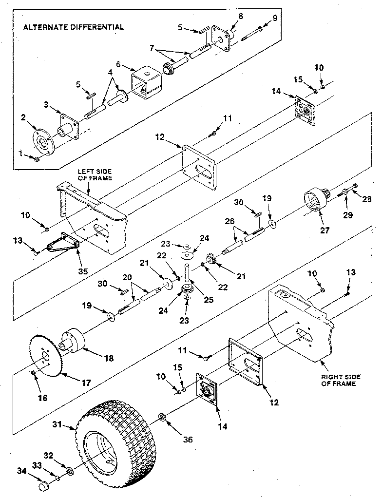 hight resolution of jacobsen ut32022 fig 6 differential and gearbox diagram