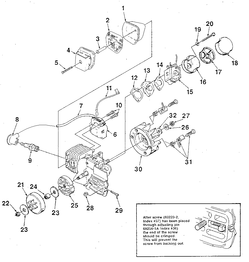 medium resolution of homelite chain saw figure 2 parts model super 2 ut10653