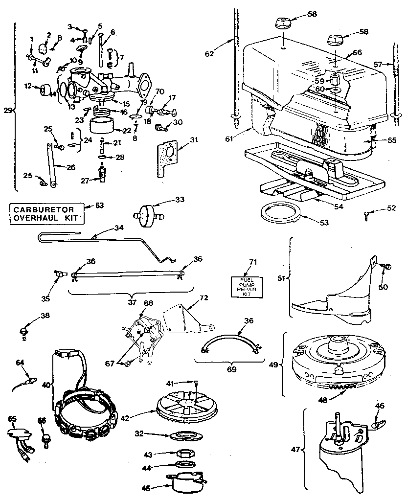 CARBURETOR Diagram & Parts List for Model 281707020101