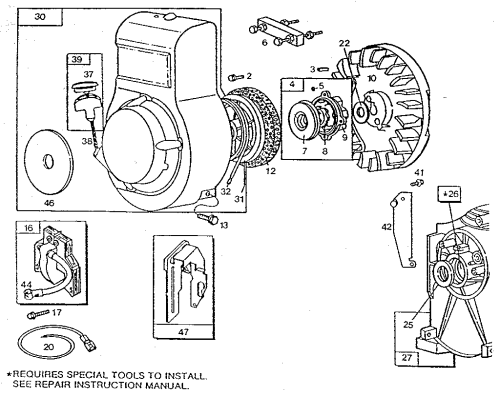 small resolution of briggs stratton 3 hp tiller engine parts model 080202 2305 01 rh searspartsdirect com 10 hp tecumseh engine parts diagram