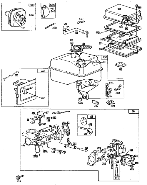 small resolution of briggs stratton model 130202 3166 01 engine genuine parts rh searspartsdirect com 10 hp briggs and stratton engine diagram briggs and stratton motor diagram