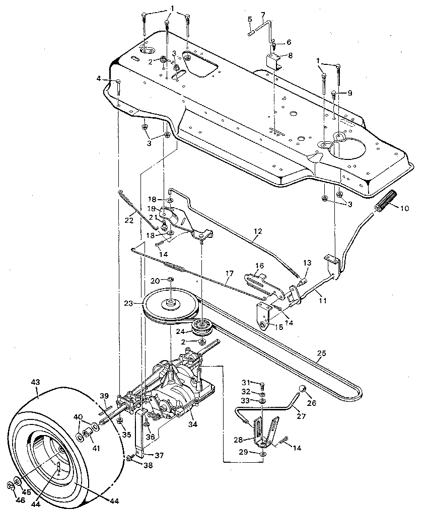 hight resolution of wiring murray 9 38600 motion drive diagram