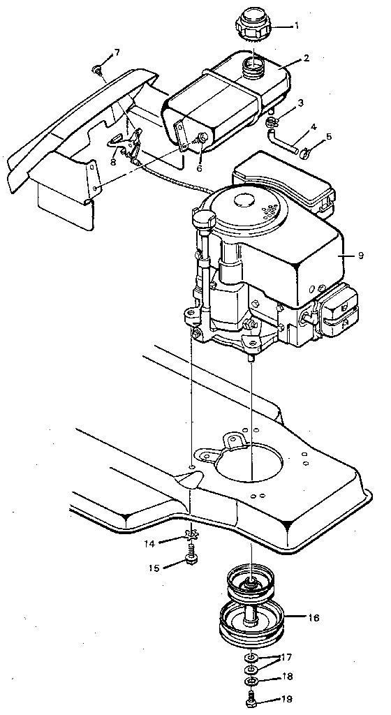 Motion Drive Diagram And Parts List For Murray Ridingmowertractor
