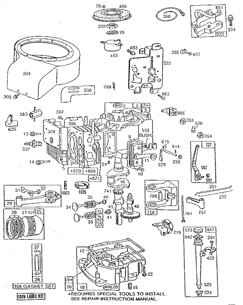 small resolution of 20 hp brigg and stratton engine diagram