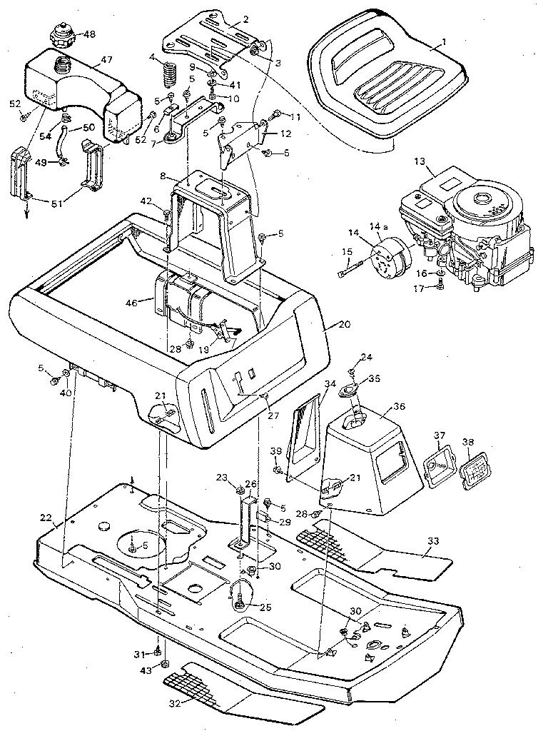 scott lawn mower part diagram [ 768 x 1024 Pixel ]