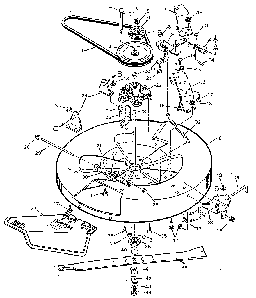 murray select riding mower wiring