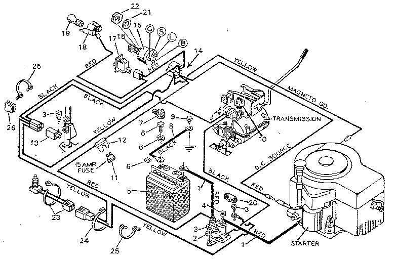murray 12.5 hp riding mower wiring diagram