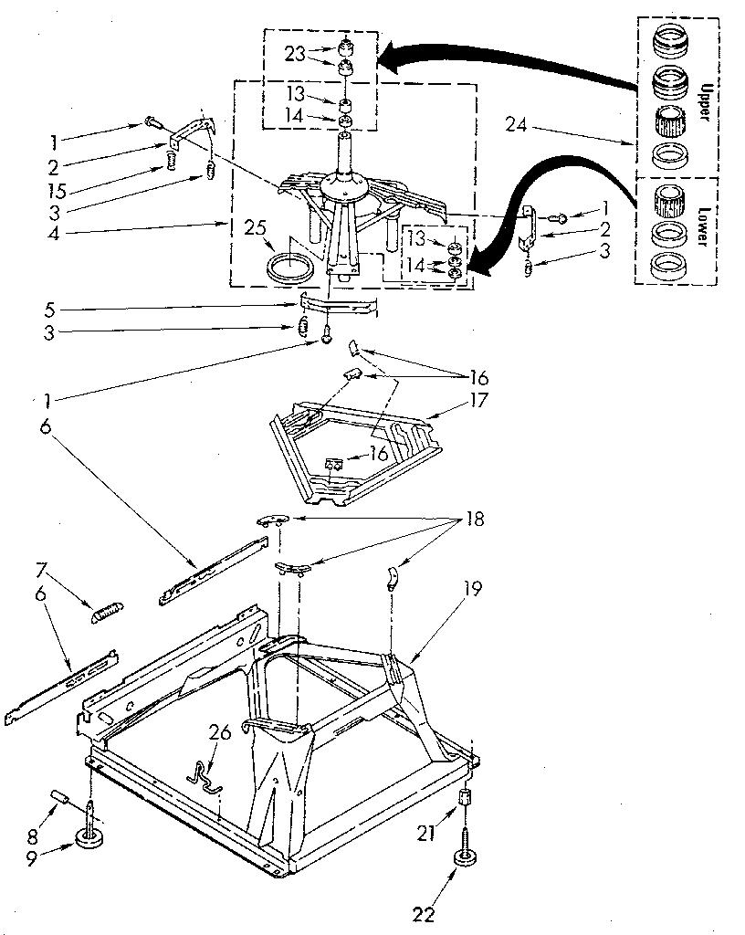 MACHINE BASE Diagram & Parts List for Model 11082874120