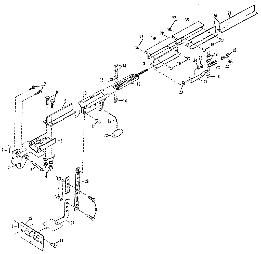 RAIL ASSEMBLY Diagram & Parts List for Model 139655200