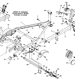 sears 371619680 tongue roller and bracket assembly diagram [ 1024 x 842 Pixel ]