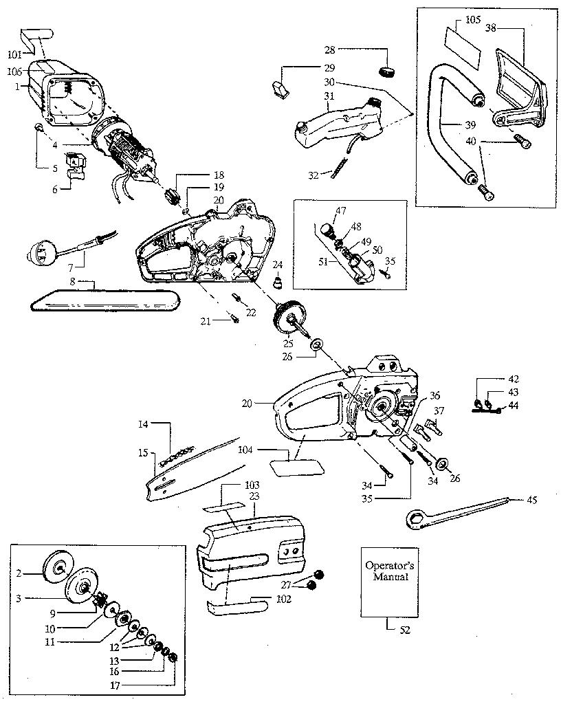 Clutch Diagram For Craftsman Chainsaw, Clutch, Free Engine