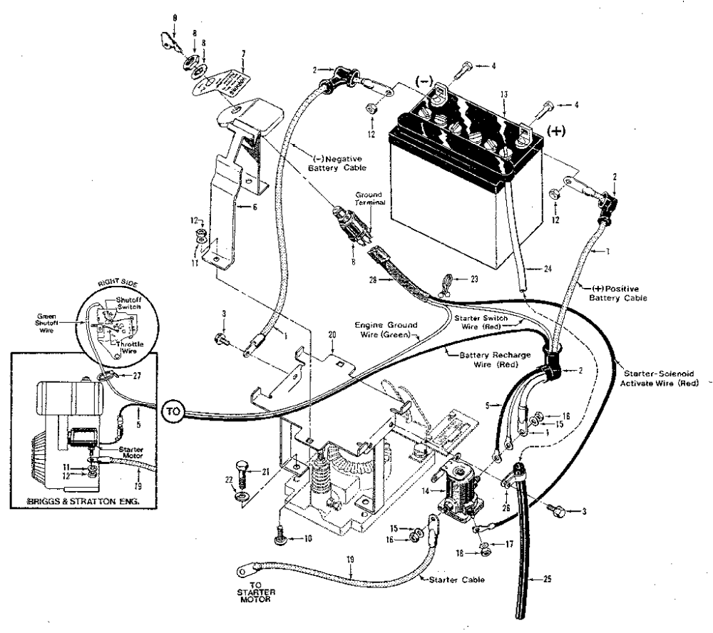 medium resolution of troybilt 900039 fig 9 electric start system 7hp 8hp tillers diagram