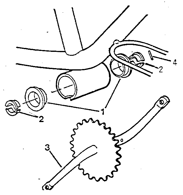 CRANK AND SPROCKET ASSEMBLY Diagram & Parts List for Model