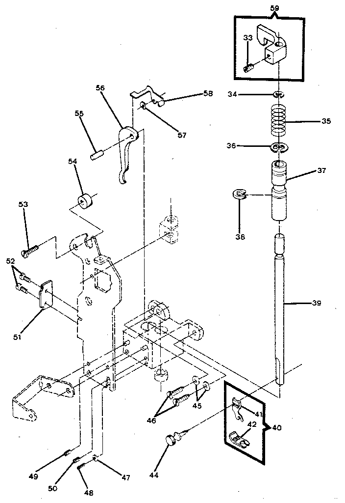 Main Shaft Arm Diagram And Parts List For Kenmore Sewingmachineparts