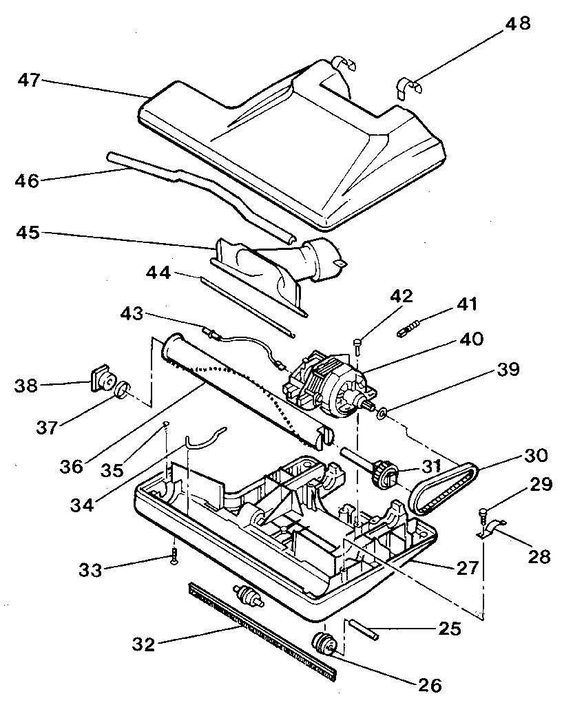 hight resolution of electrolux vacuum parts