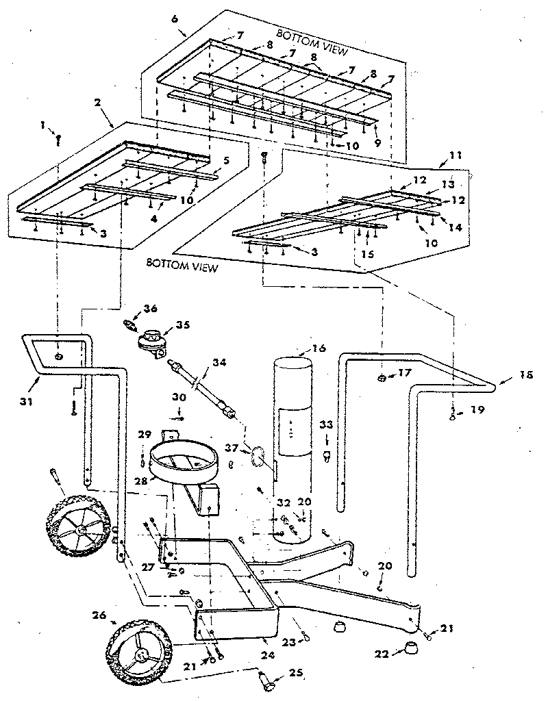 CART Diagram & Parts List for Model 2582337910 Craftsman