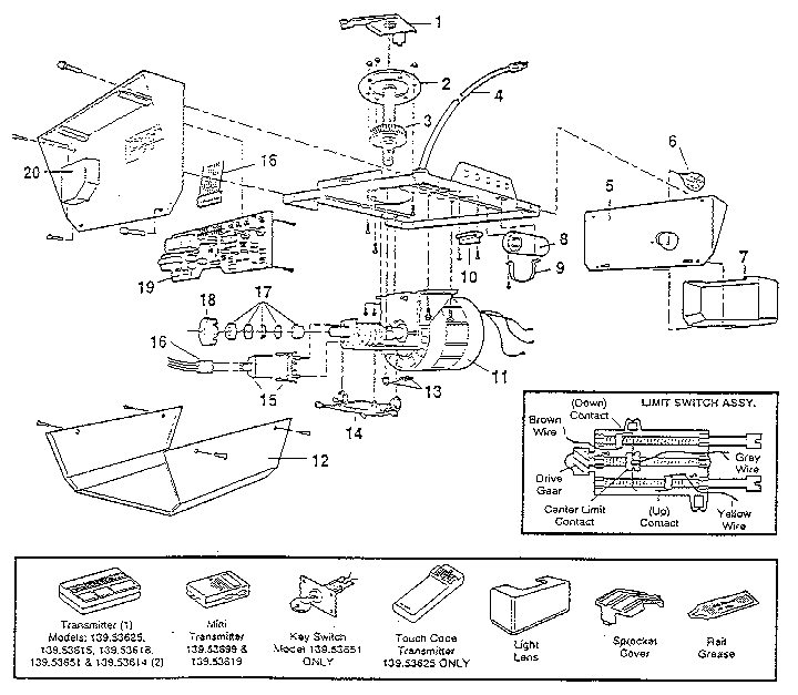 wiring diagram for stanley garage door opener big tex trailer craftsman great installation of model 13953614sr genuine parts rh searspartsdirect com safety sensor
