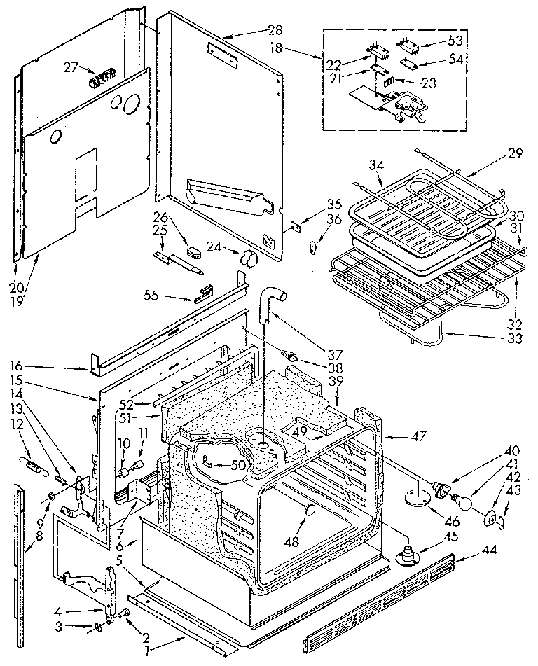 Wiring Diagram: 30 Kenmore Oven Parts Diagram