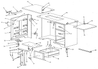 KENMORE SEWING MACHINE CABINET Parts   Model 4129198881 ...