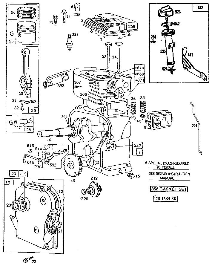 20 hp briggs and stratton engine parts