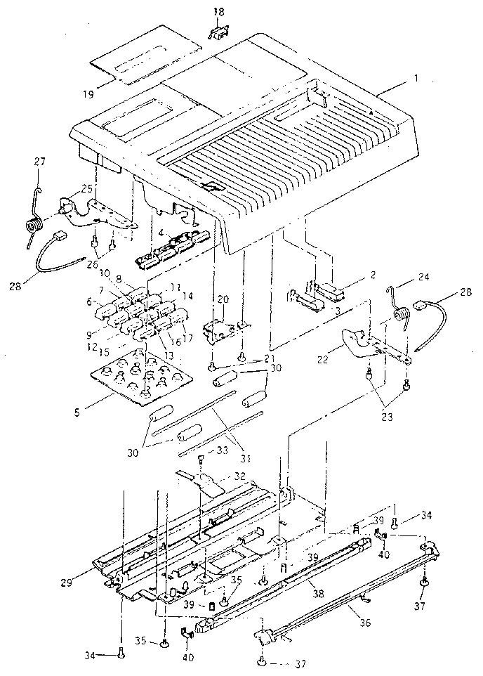 6.2 CONTROL PANEL Diagram & Parts List for Model 270