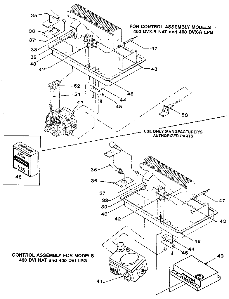 hight resolution of williams 400dvi nat control assembly diagram