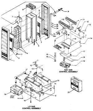 WILLIAMS WALL FURNACE Parts | Model 50gv3lpg | Sears