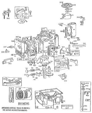 BRIGGS & STRATTON 10 HP ENGINE Parts | Model 255707011202