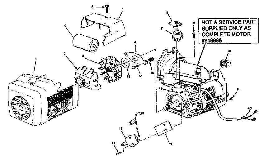 MOTOR 818888 Diagram & Parts List for Model 113197710