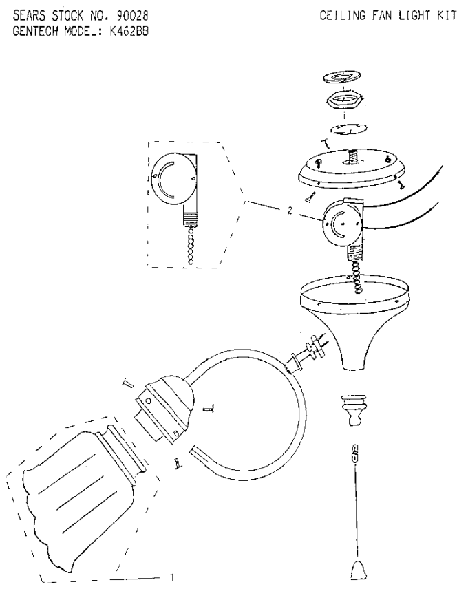 ceiling fan diagram parts