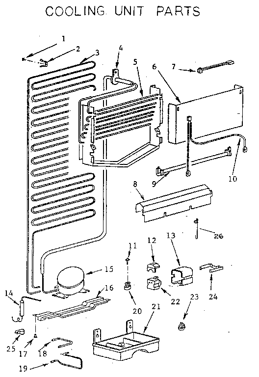 COOLING UNIT Diagram & Parts List for Model 5649610480