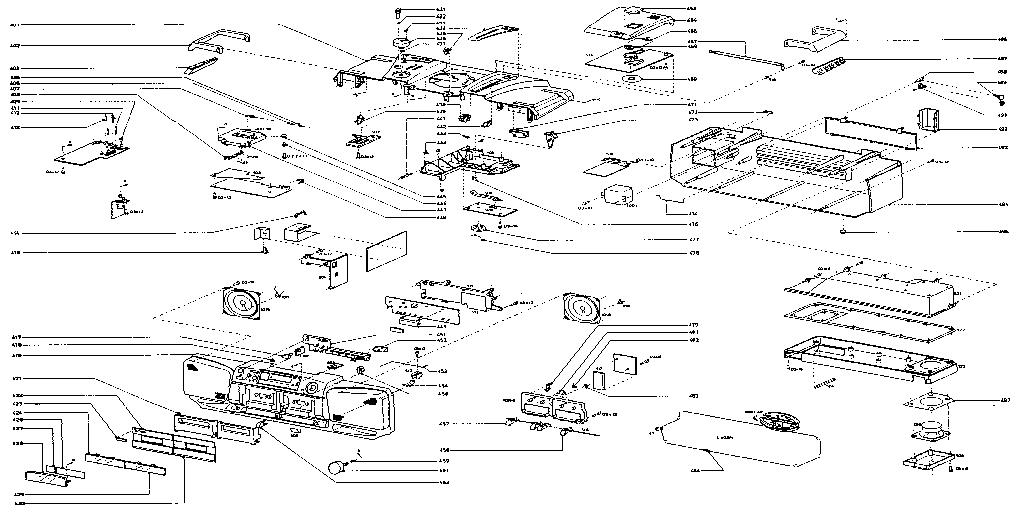 MAGNAVOX PORTABLE AM/FM CASSETTE COMPACT DISC STEREO Parts