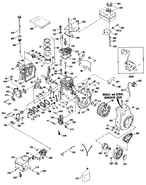 Tecumseh Engine Parts Diagram For 204803b