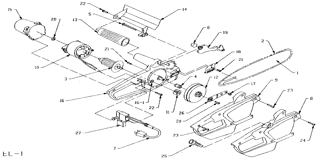 REPLACEMENT PARTS Diagram & Parts List for Model EL1