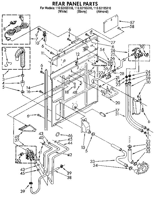 kenmore washer wiring diagram logixpro traffic light ladder model 11092195110 residential washers genuine parts