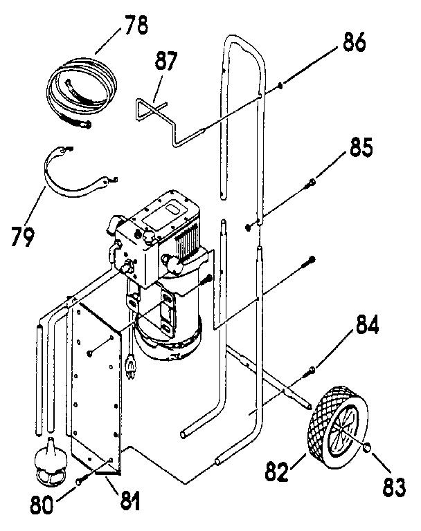 CAMPBELL-HAUSFELD Airless Paint Sprayer Motor assembly