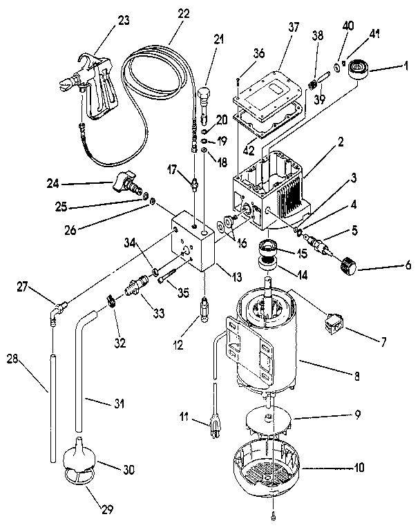 MOTOR ASSEMBLY Diagram & Parts List for Model al2305