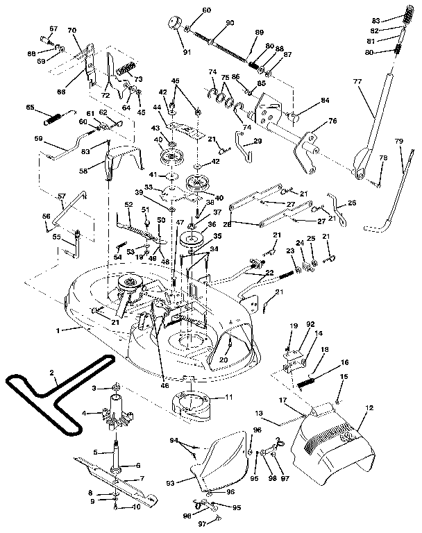 Craftsman 42 Mower Belt Diagram