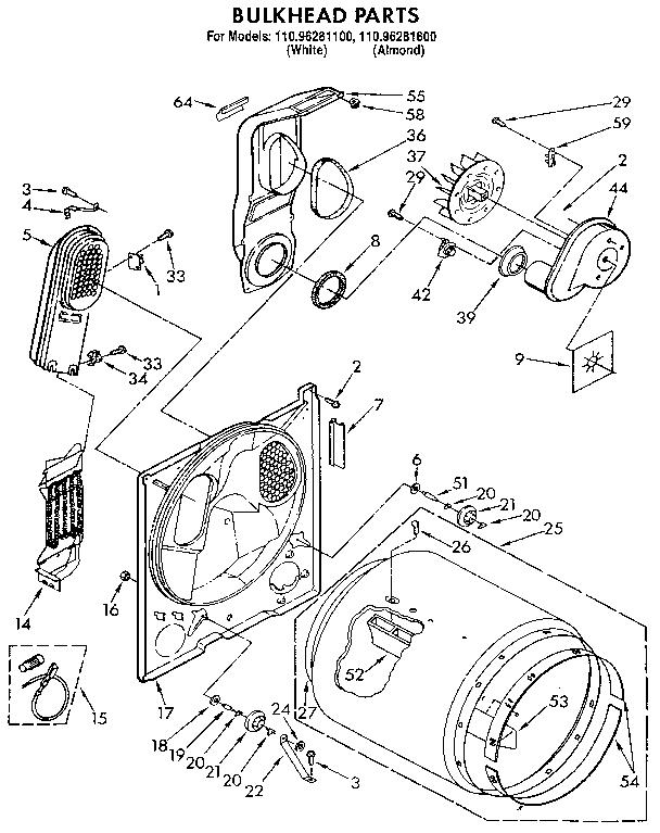 Kenmore Series 80 Dryer Parts : kenmore, series, dryer, parts, Kenmore, 11096281800, Dryer, Parts, Sears, PartsDirect