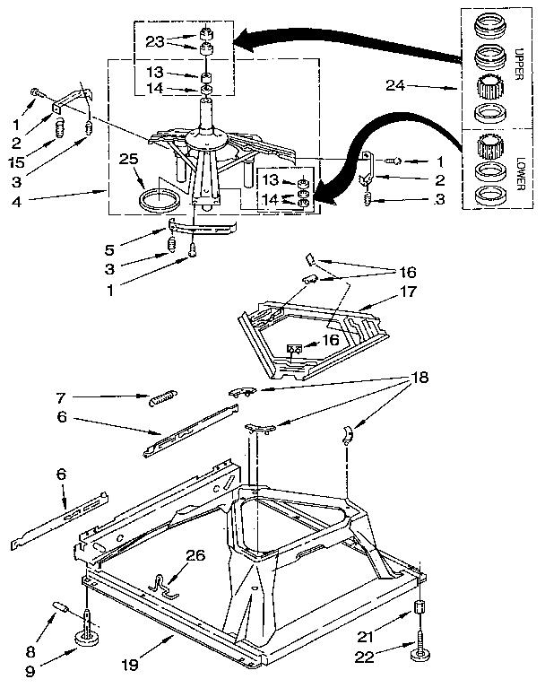 MACHINE BASE Diagram & Parts List for Model 11091250100